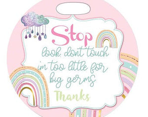 Rainbow Stop Germs Tag