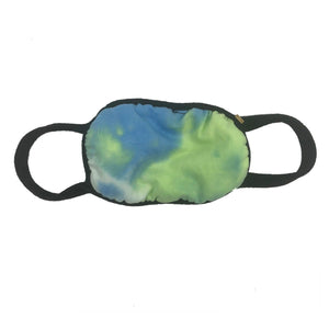 Tie Dye Ocean Blue Childs Face Mask