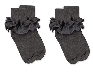 Misty Ruffle Turn Cuff- Charcoal
