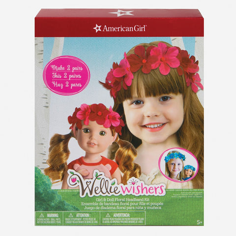 Wellie Wishers Girl & Doll Floral Headband Kit