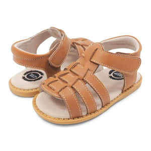 Finn Caramel Leather Sandal