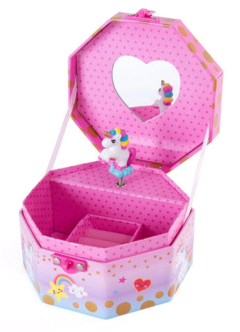 Caticorn Musical Jewelry Box with Figurine