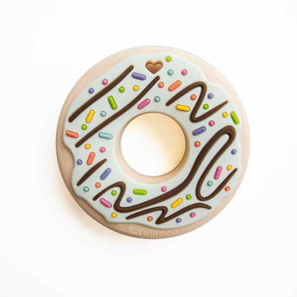 Mint Donut Single Silicone Teether