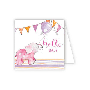 Baby Gift Enclosure - Pink Elephant