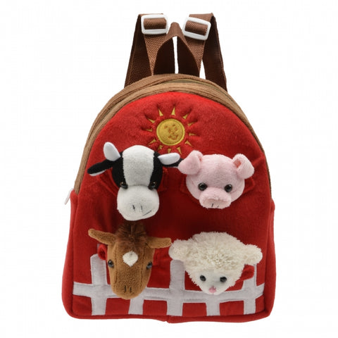 Farm Animals in Horse Backpack