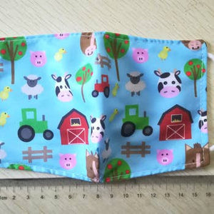 Kids Reusable Face Mask - Farm