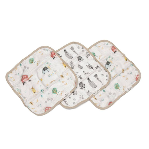 Washcloth 3-pieces Set - Animal Farm