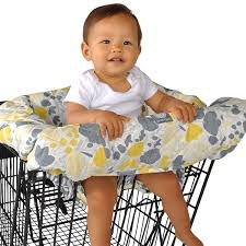 Shopping Cart And high Chair Cover - Yellow Tulip