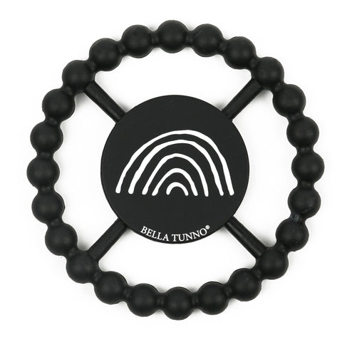 Happy Teether - Black/White Rainbow