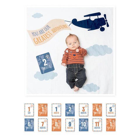 Baby's First Year Blanket & Card Set- Greatest Adventure
