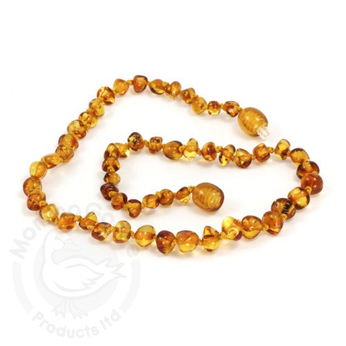 Amber Teething Necklace- Baroque Honey