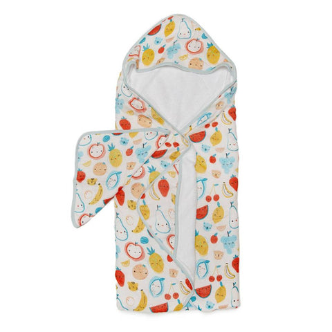 Hooded Towel and Wash cloth Set -Cutie Fruits
