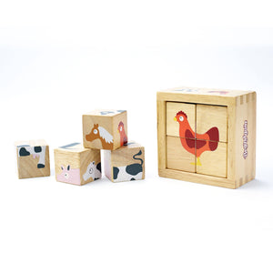 Buddy Blocks - Beginner Block Puzzle Set - Farm