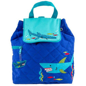 Quilted Backpack - Shark