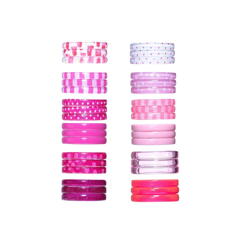 Pink Mixed Bangles - Set of 3