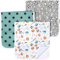 Burp Cloth Set- Varsity