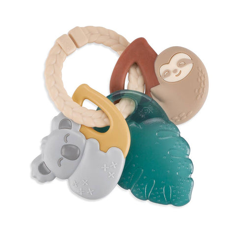 Itzy Keys - Tropical -Textured Ring with Teether + Rattle