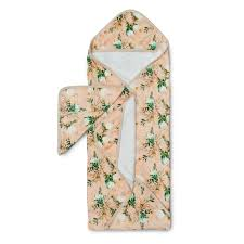 Hooded Towel and Wash Cloth Set - Blushing Protea