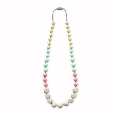 TEETHING HAPPENS™ BEAD NECKLACE - JADE MAUVE