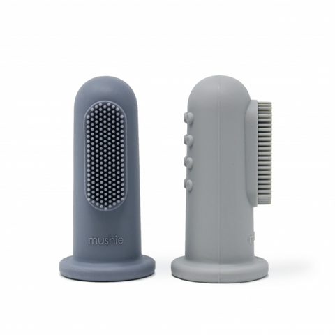 Silicone Finger Toothbrush - Tradewinds/Stone