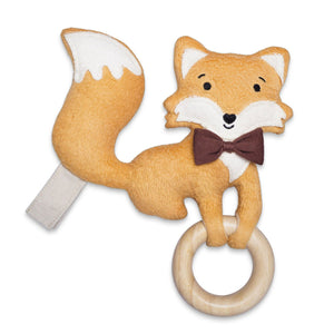 Organic Plush Teething Toy – Fox