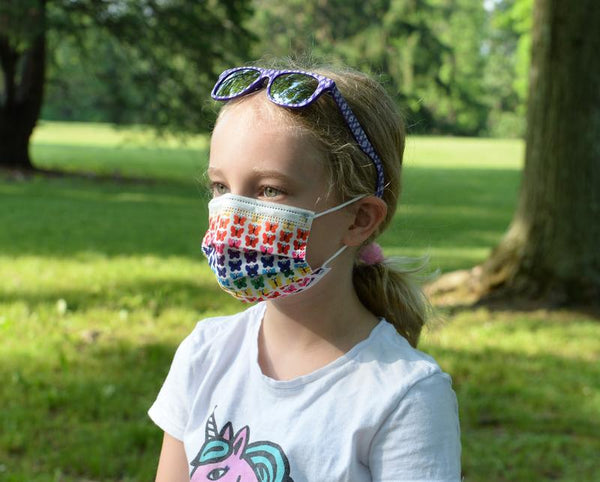 6 Pack Kids Masks - 3pc Butterfly | 3pc Rainbow Playground