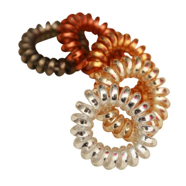 Set of 10 Spiral Hair Ties Hair Coils Ponytail Holders - Multi