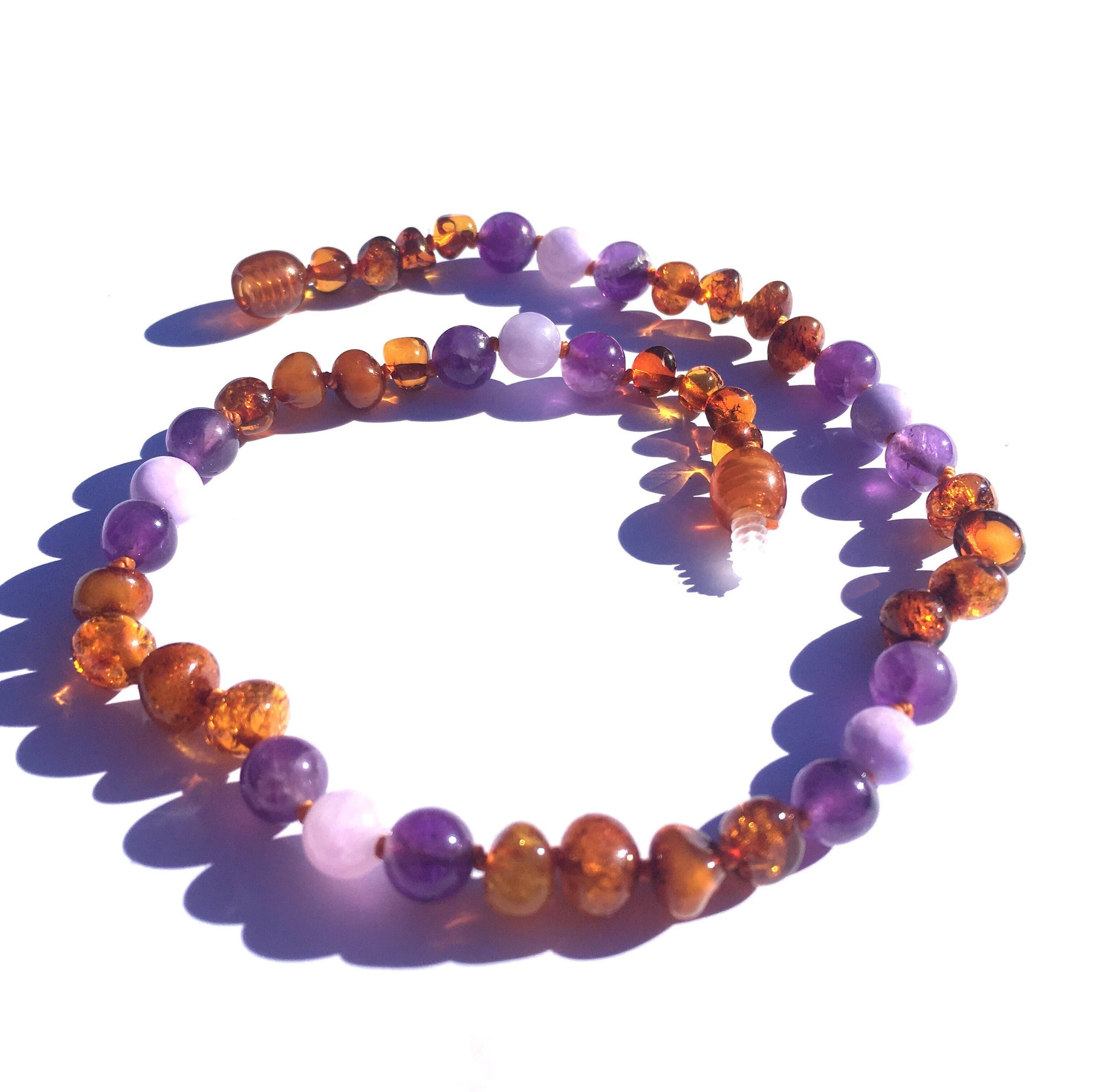 Amber Teething Necklace- Violet