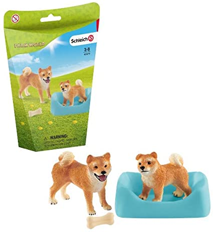 Farm World Shiba Inu Mom and Pup