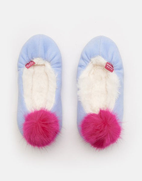 Slippom Pom Pom Slippers Blue