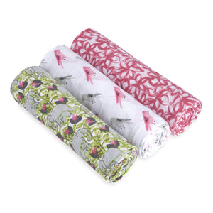 3-Pack Swaddle Set - Paradise Cove Print