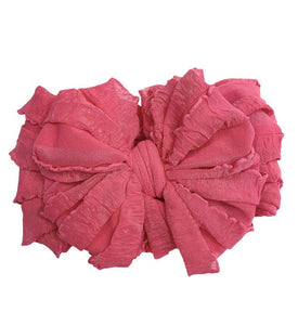 Hot Pink Ruffle Headband