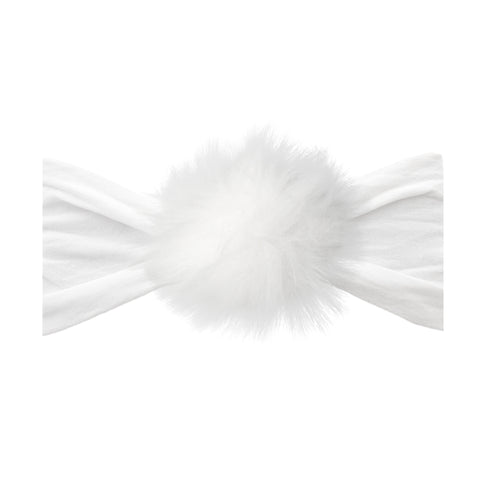 White Rabbit Fur Pom