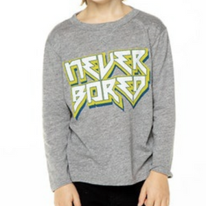 Never Bored Crew Neck Tee