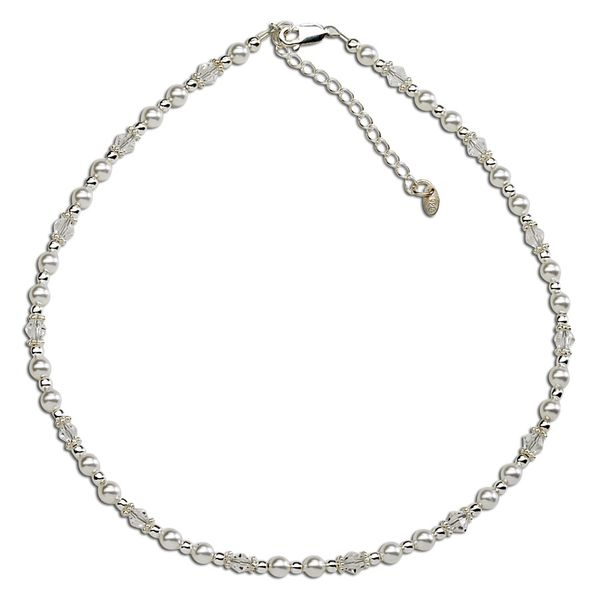 Hope- Sterling Silver Pearl & Crystal Necklace