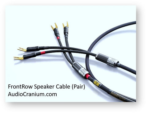 frontRow Loudspeaker Cable` Frontrow loudspeaker cables + Audience