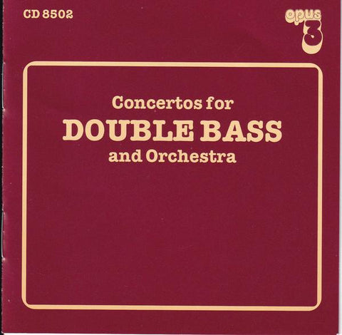 Opus 3 CD Concertos for DOUBLE BASS and Orchestra AudioCranium