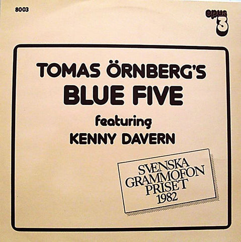Opus 3 Tomas Ornberg's Blue Five featuring Kenny Davern CD8003 First Edition Collectors AudioCranium