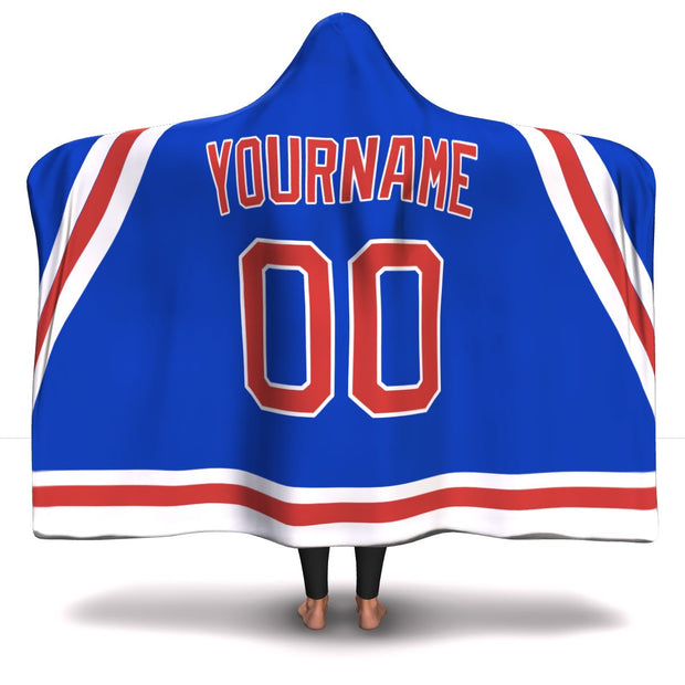 New York Hockey Hooded Blanket| Unique hockey gift idea