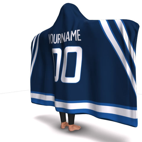 Winnipeg Hockey Hooded Blanket| Unique hockey gift idea