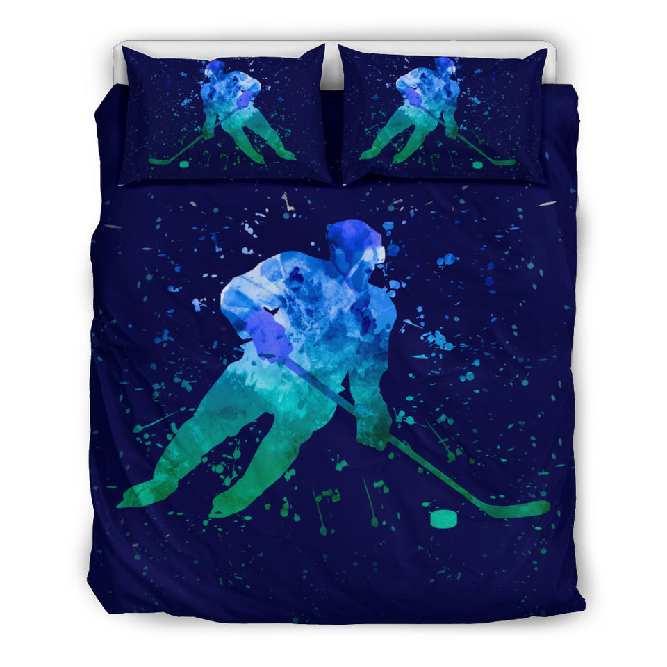 Hockey Player Art Bedding Set - HockeyAF