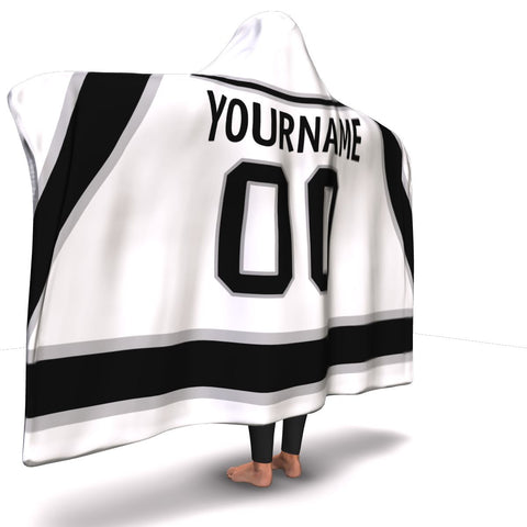 Los Angeles Hockey Away Hooded Blanket| Unique hockey gift idea