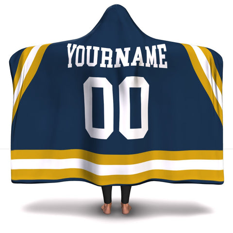 Notre Dame Hockey Hooded Blanket| Unique hockey gift idea