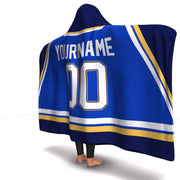 St. Louis Hockey Hooded Blanket| Unique hockey gift idea