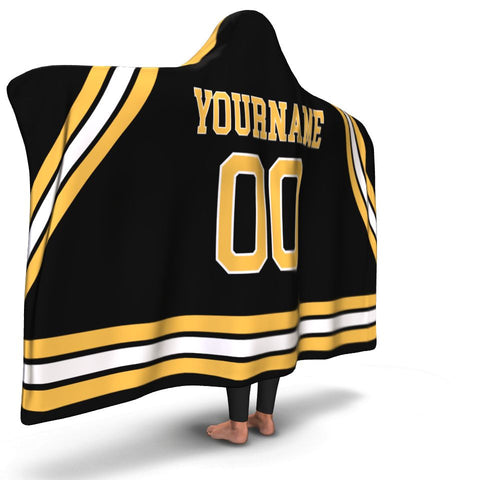 Boston Hockey Hooded Blanket| Unique hockey gift idea