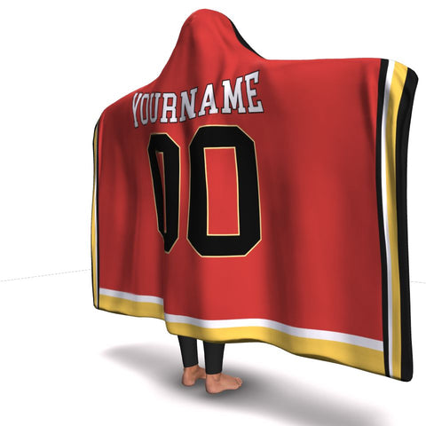 Calgary Hockey Hooded Blanket| Unique hockey gift idea