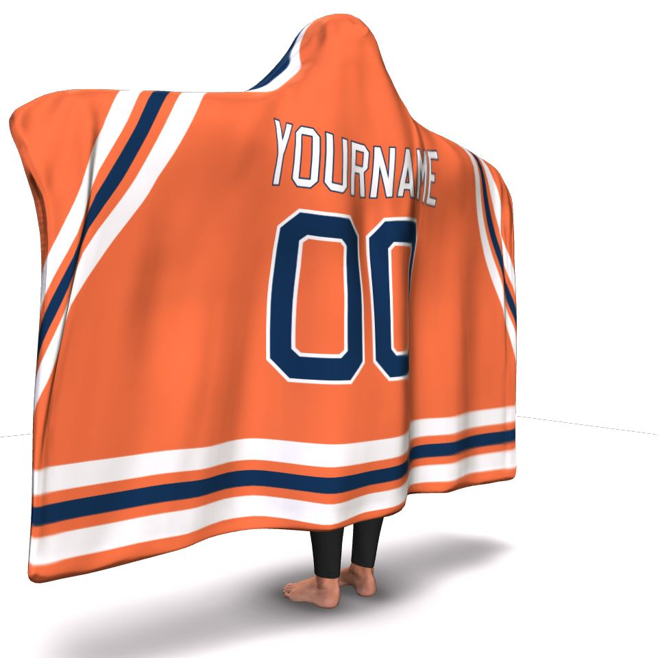 Edmonton Hockey Hooded Blanket - HockeyAF