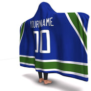 Vancouver Hockey Hooded Blanket| Unique hockey gift idea