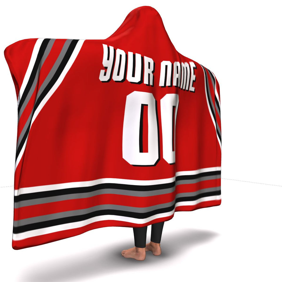 Ohio Hockey Hooded Blanket - HockeyAF