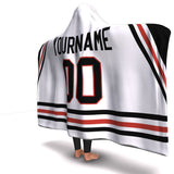 Chicago Hockey Away Hooded Blanket - HockeyAF